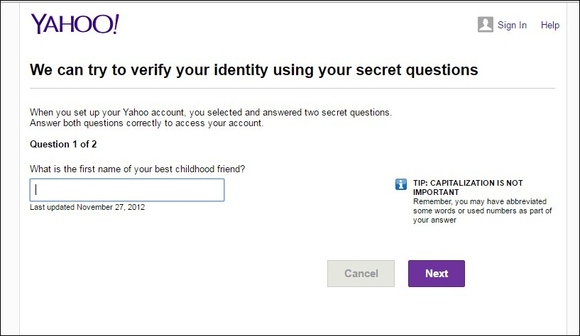 Checking Validation Of Yahoo Email Account