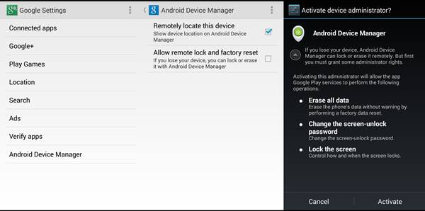 Use Android Device Manager In Your Android