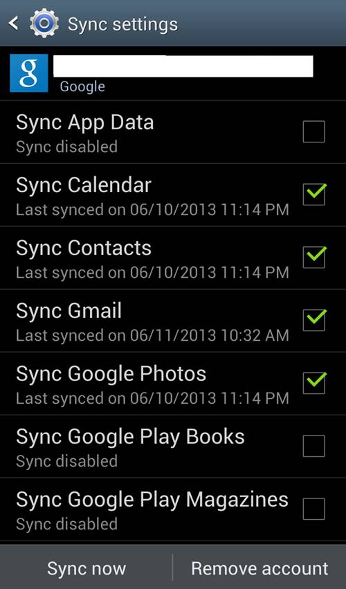 android contact sync