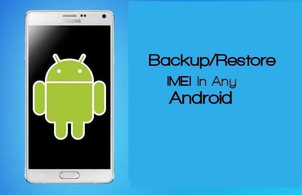 Backup and restore imei in android