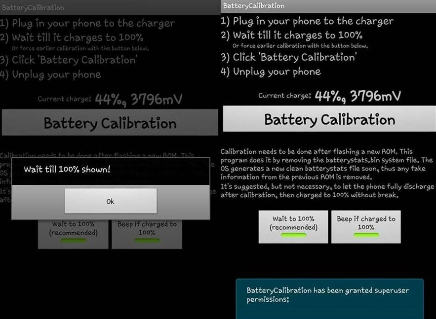 battery calibiration