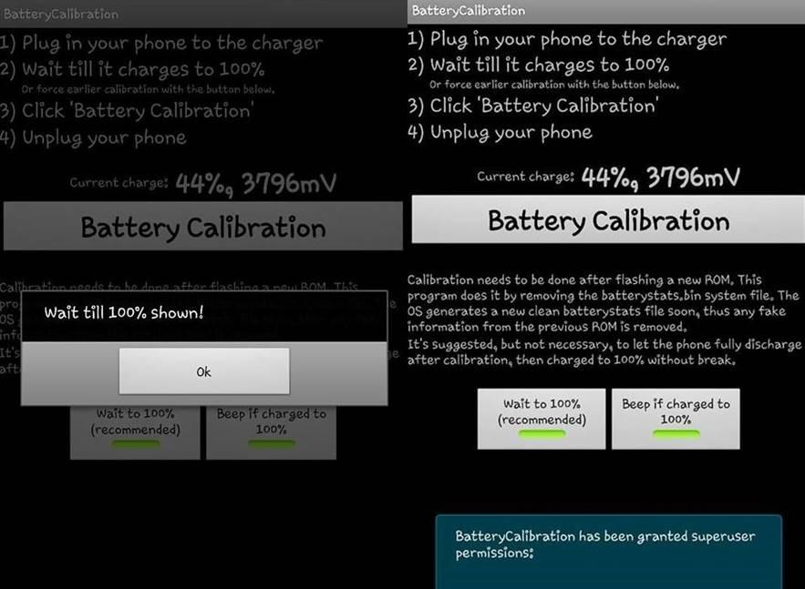 calibrazione della batteria