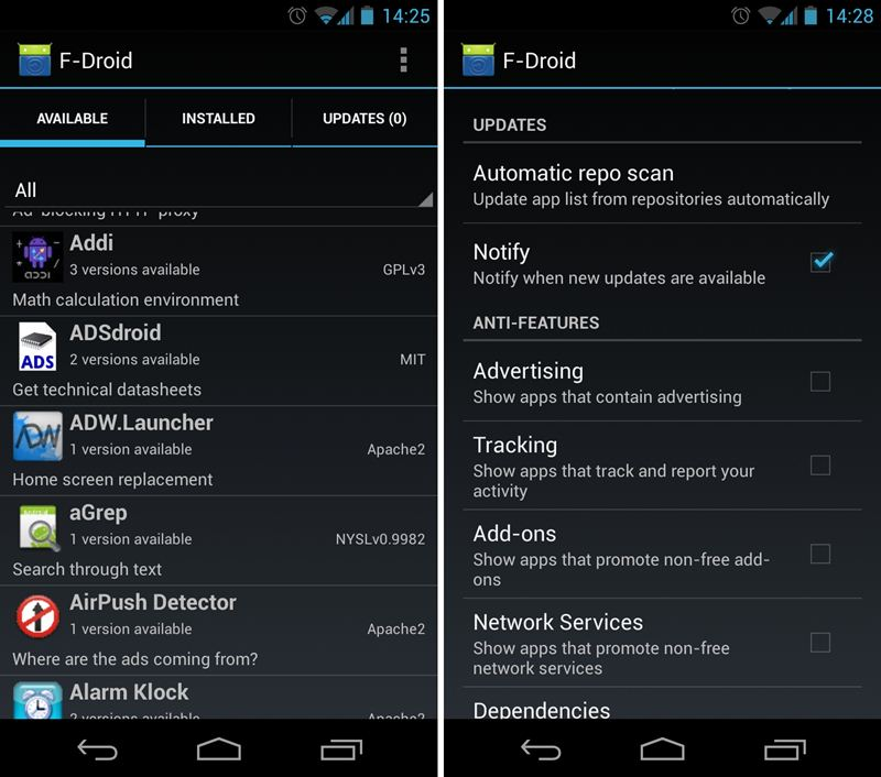 droid app store how to incompatible apps in any android 22429