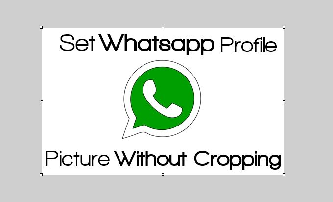 set whatsapp pofile without cropping_result