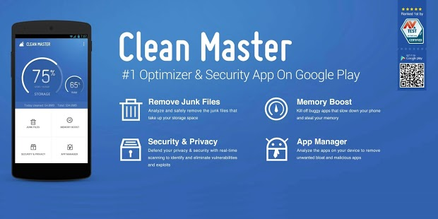 Using Clean Master App To Clear Junk Files