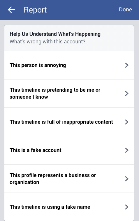 Fake fb Account1