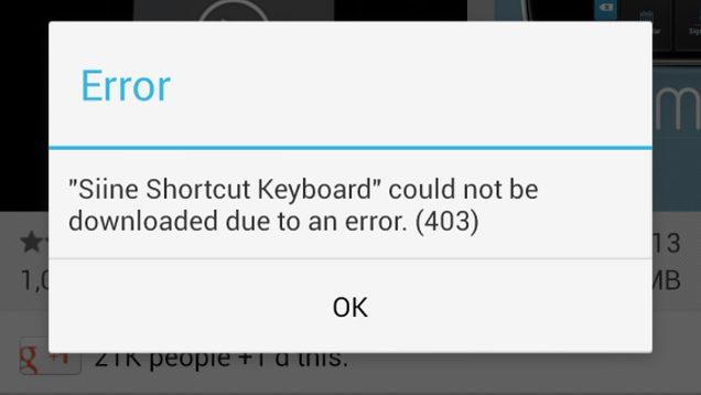 Google Play Errors