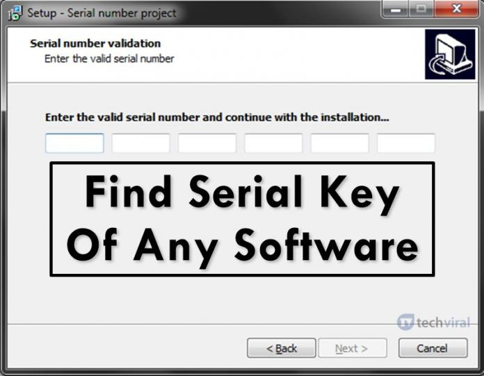 How to Find Serial Key Of Any Software