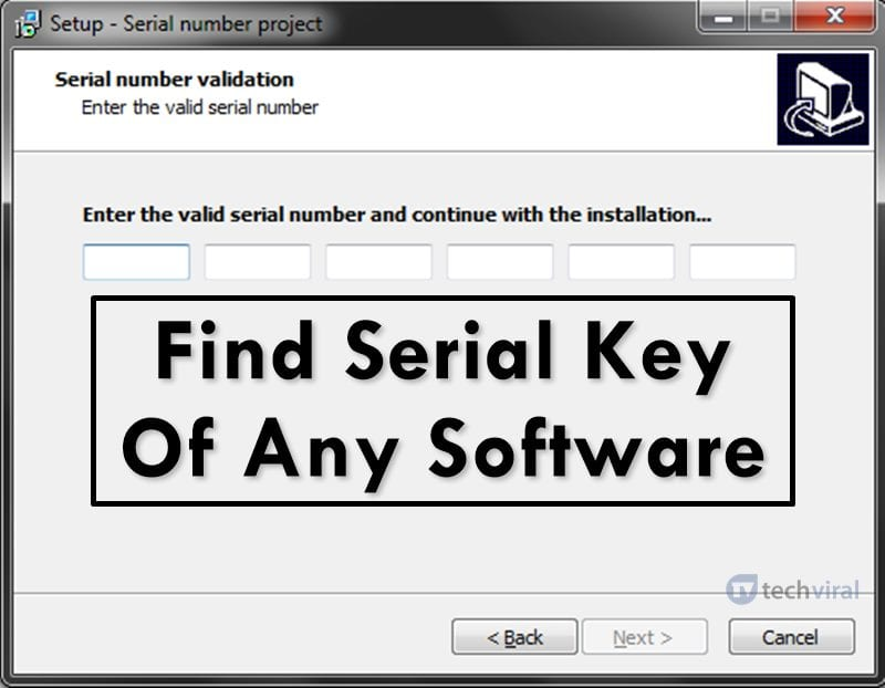 Find Serial Key Of Any Software