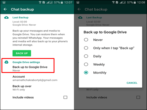 Keep WhatsApp Data Safe With Google Drive