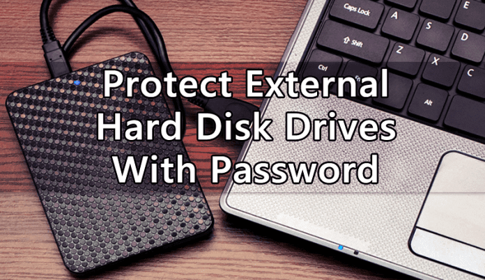 Protect External Hard Disk Drives With Password