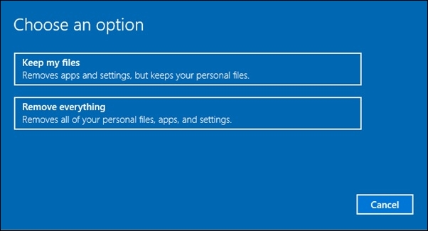 Reset Windows 10 To Default Factory Settings