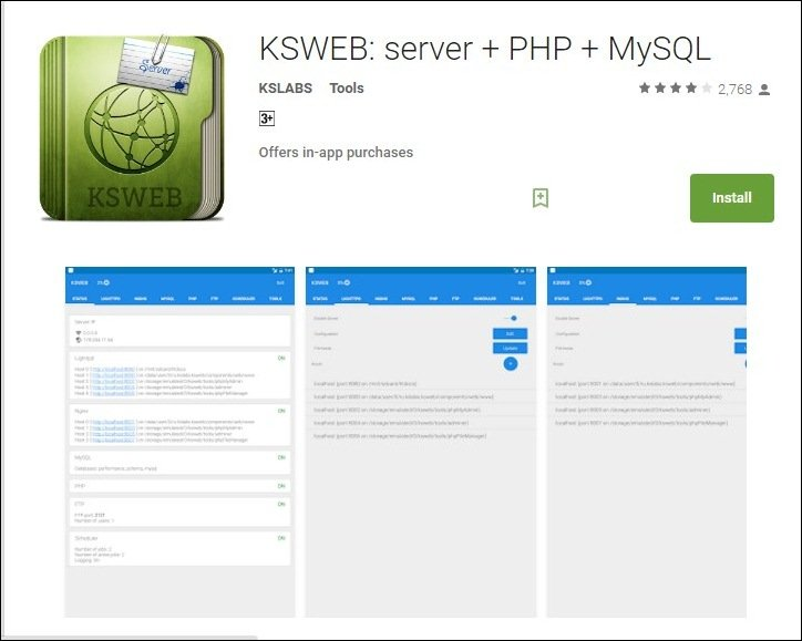 Set Up a Local Web Server on Your Android