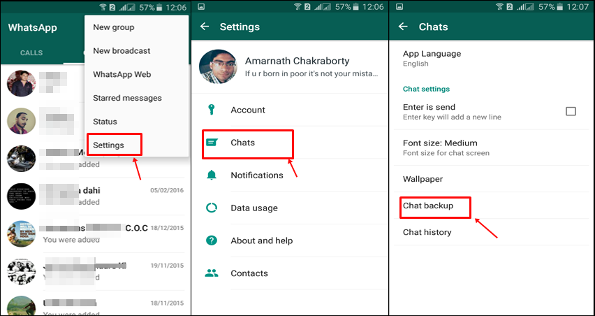 Keep WhatsApp Data Safe With Google Drive