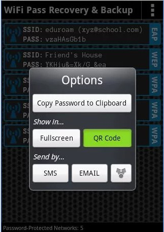 Finding Current Wifi Password In Android