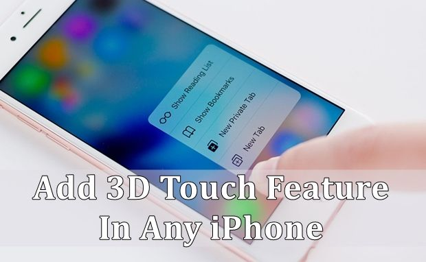 add 3d touch in any iphone