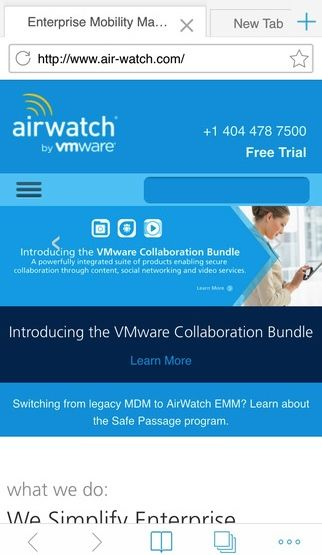airwatch browser