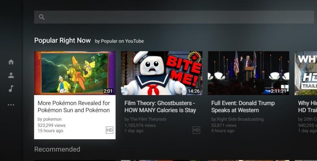 قم بتشغيل Youtube من خلال لوحة المفاتيح
