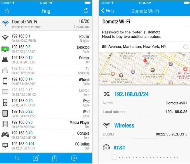 Fing - Network Tools for iOS