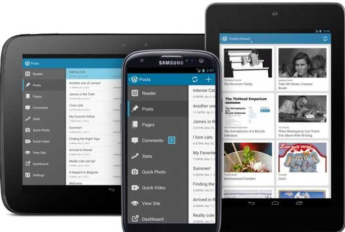 Host wordpress on android