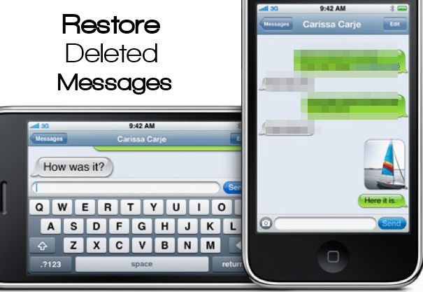 Restore deleted text messages