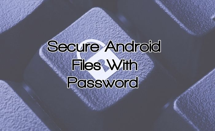 Secure your android data with password2