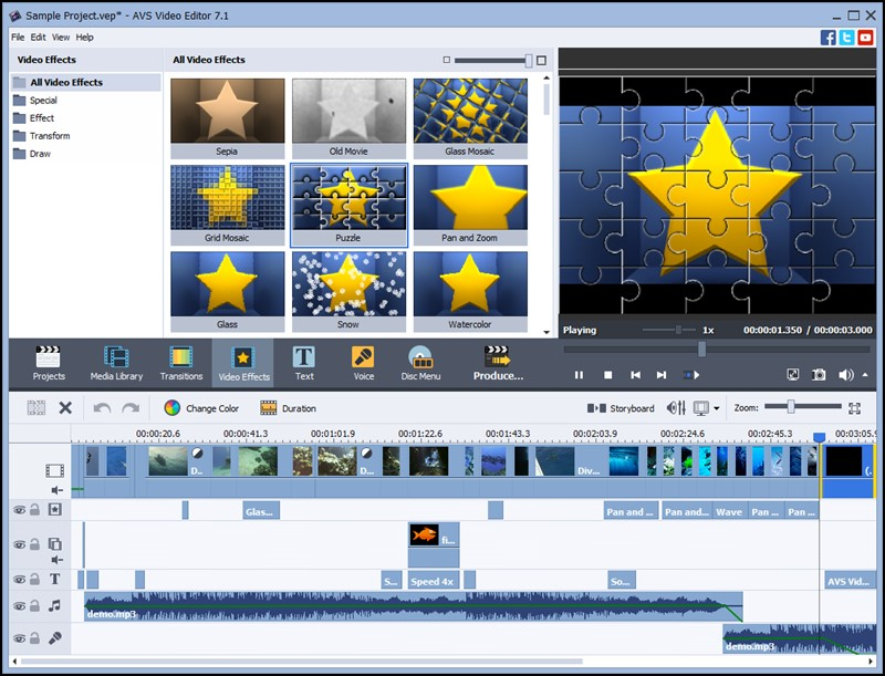 AVS Video Editor, Top 10 Video Editing Softwares For Windows
