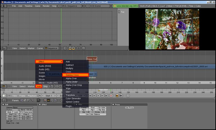 Blender - best professional video editing software