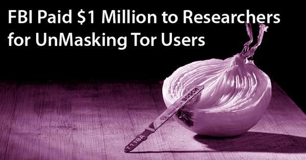 FBI Denies Paying $1 MILLION to Unmask Tor Users