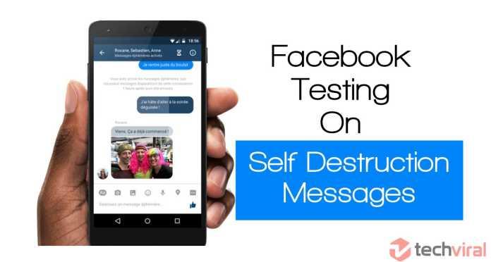 Facebook Testing On Self Destruction Messages