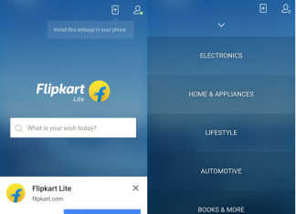 Flipkart Lite App-Like Mobile Website Launched With Google