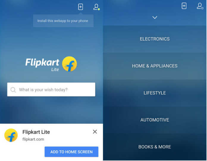 Flipkart Lite App-Like Mobile Website Launched With Google