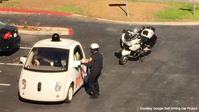 Google Car is Stopped by Police in The US For Driving Too Slowly