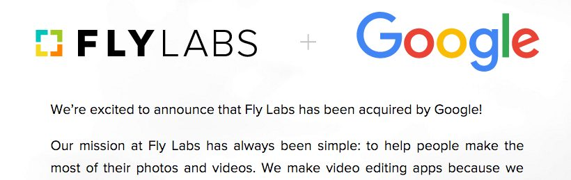 Google Partners With Video And Photo Editing Startup Company Fly Labs