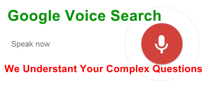 Google Voice Search to Answer More Complex Questions