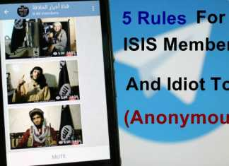 ISIS Calls Anonymous Hackers an IDIOT And Notice For Their Supporter