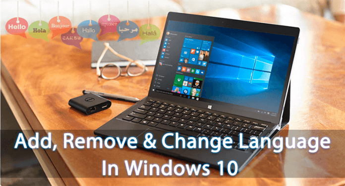 Add, Remove and Change Language In Windows 10