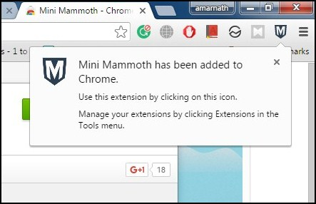 Save Your Internet Research On Google Chrome Using Mini Mammoth