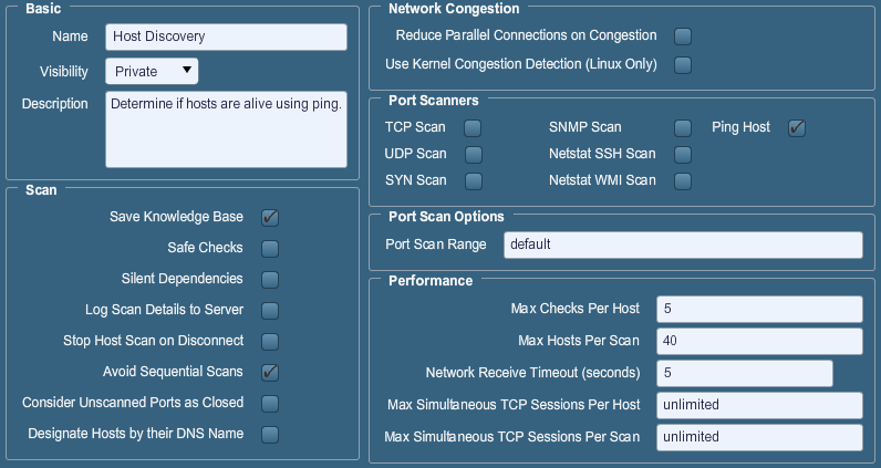 Nessus Remote Security Scanner