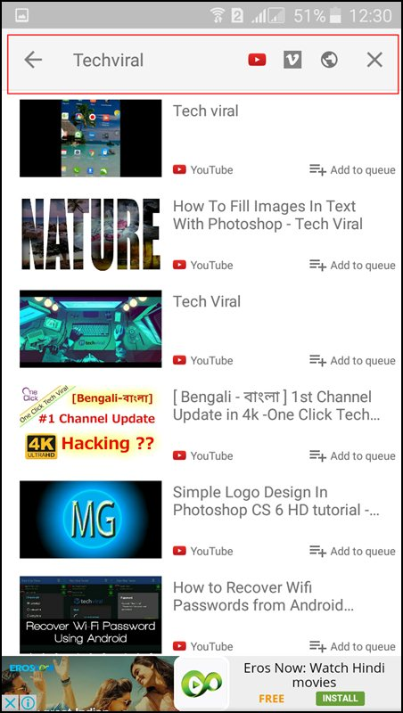 Play YouTube Videos in Background In Android