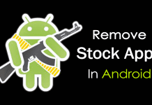 Remove Stock Apps In Android