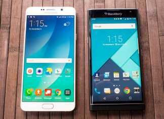 Samsung Galaxy Note 5 vs Blackberry Priv