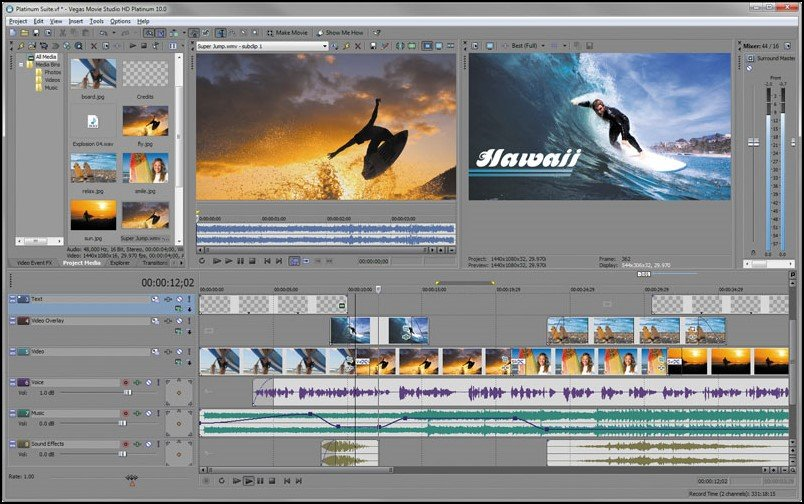 Sony Vegas Movie Studio, Top 10 Video Editing Softwares For Windows