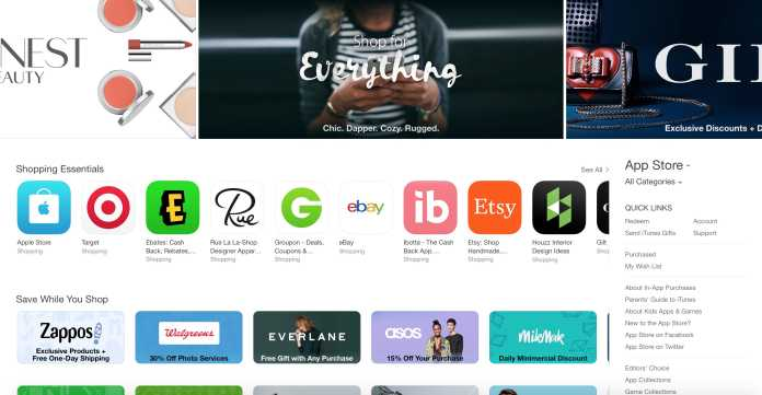 """Apple Introduced """"SHOPPING"""" Tab in The App Store Starting November 5"""