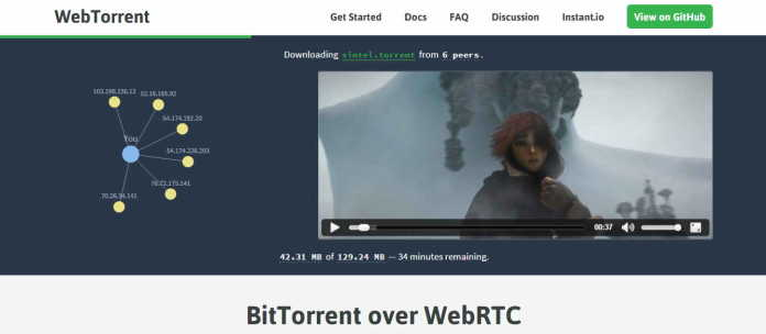 WebTorrent Introduced BitTorrent That Streamed From Your Browser Written in JavaScript