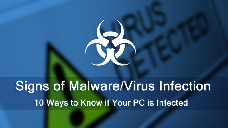 10 Warning Signs That Your Computer is Malware & Virus Infected