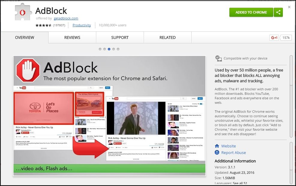 Using AdBlocker