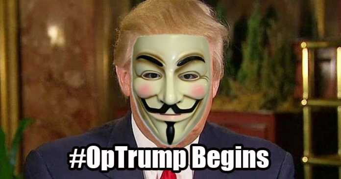 Anonymous Says it Took Down Trump Tower Website