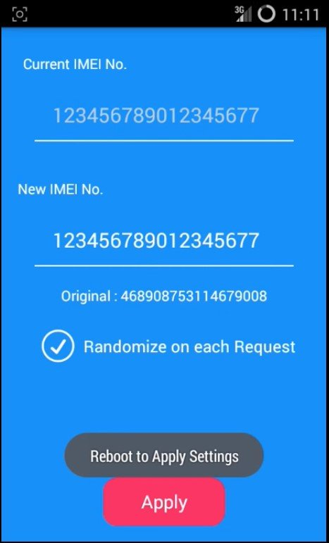 Change IMEI Number of Your Android