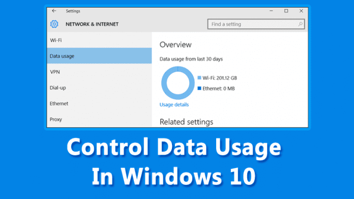 How To Control The Data Usage In Windows 10